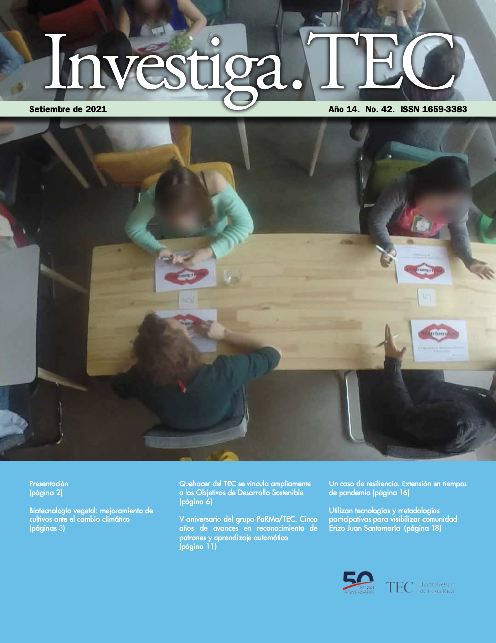 La imagen de portada presenta un grupo de investigadores en un área boscosa