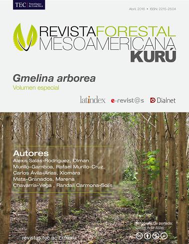 Volumen especial - Gmelina arborea